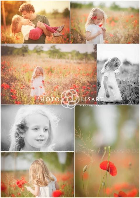 Fotografo bambini milano papaveri