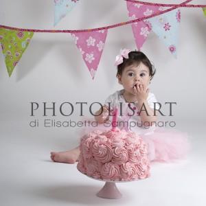 servizio fotografico smash cake primo compleanno milano