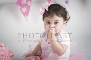 servizio fotografico smash cake primo compleanno