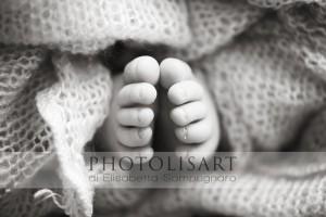 dettaglio fotografia piedini neonato