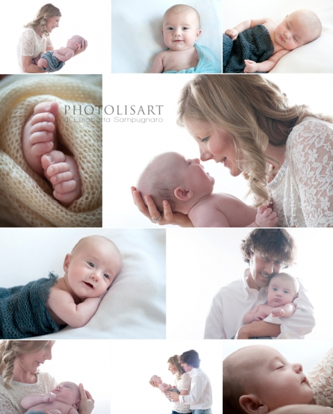 sessione fotografica famiglia bambino 3 mesi