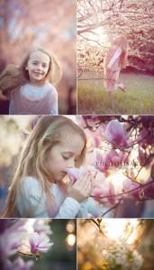 fotografo bambini in primavera milano