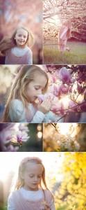 servizio fotografico in fiore al parco