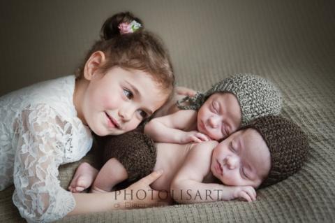 Servzio fotografico neonati gemelli Milano
